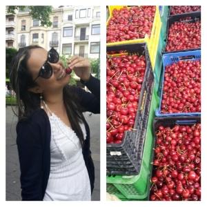 Con las cerezas